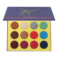 16 Colors Eyeshadow Palette Matte Shimmer Glitter Foiled Eye Shadow Makeup Kit PURPLE Giraffe Eye Pallet