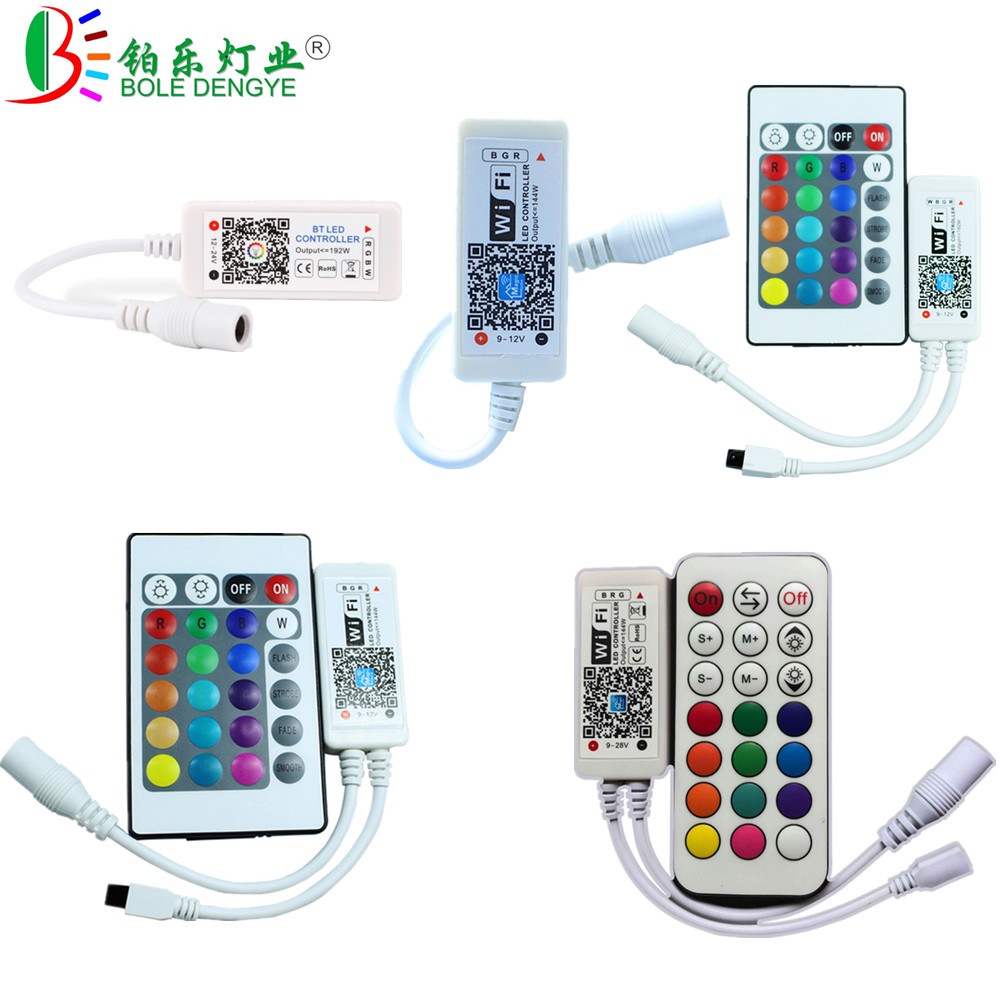 BOLEDENGYE Bluetooth WiFi RGB RGBW Controller For 2835 5050 RGB LED Strip Works With IOS Android Alexa Google Home Smart Device ...