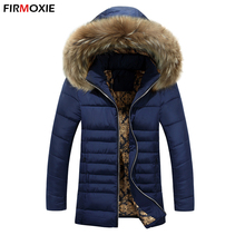 New Brand Warm Cotton Padded Coat Winter Long Jackets Men Casual Hooded Parkas Slim Coats Fashion Thickening Outwear Plus Size