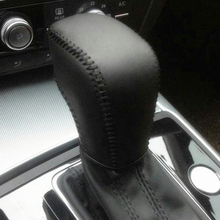 hot deal buy free shipping high quality cowhide top layer leather automatic gear shift collars gear cover for audi a6 a6l 2016 2017 a7 s6 s7