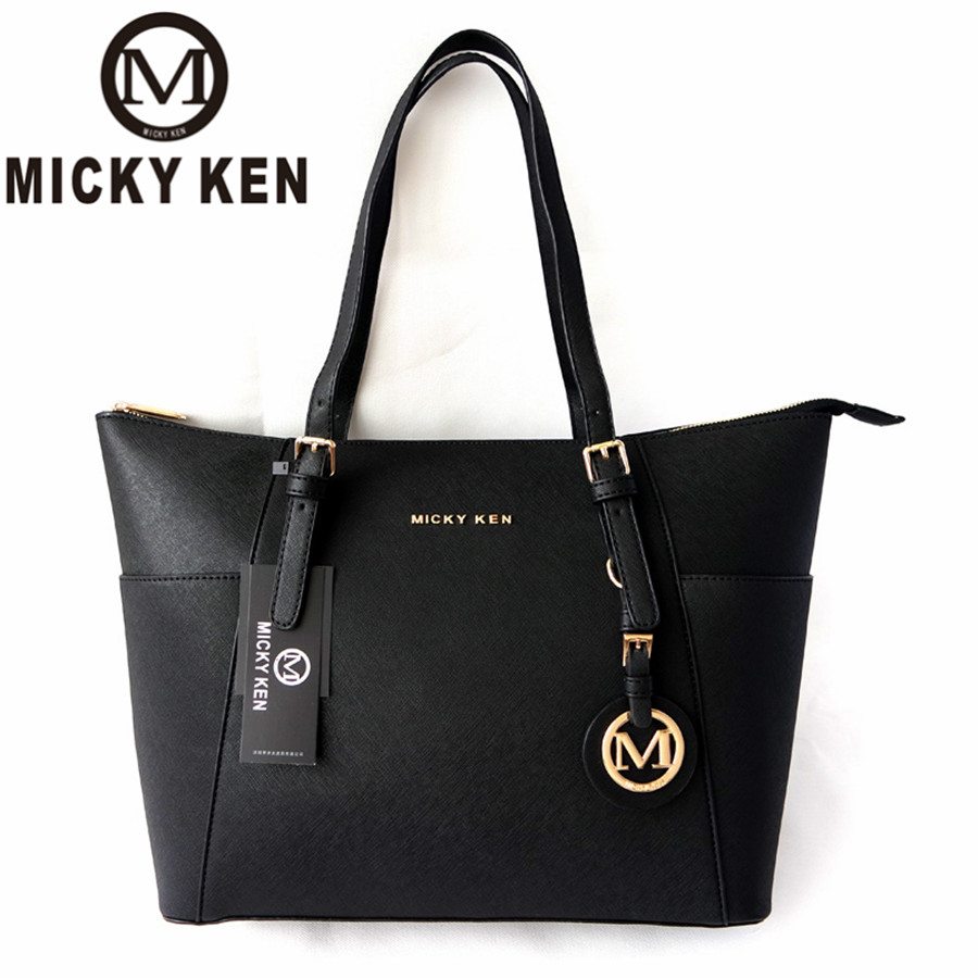 MICKY KEN Large Capacity Luxury Handbags michael same style Women Bags Designer Famous Brand Lady Leather Tote Bags sac a main(China)