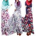 Abaya Kaftan mujeres musulmán islámico Jilbab vestido de moda flor vestido Plus tamaño vestido de Maxi vestido Dubai turco ropa