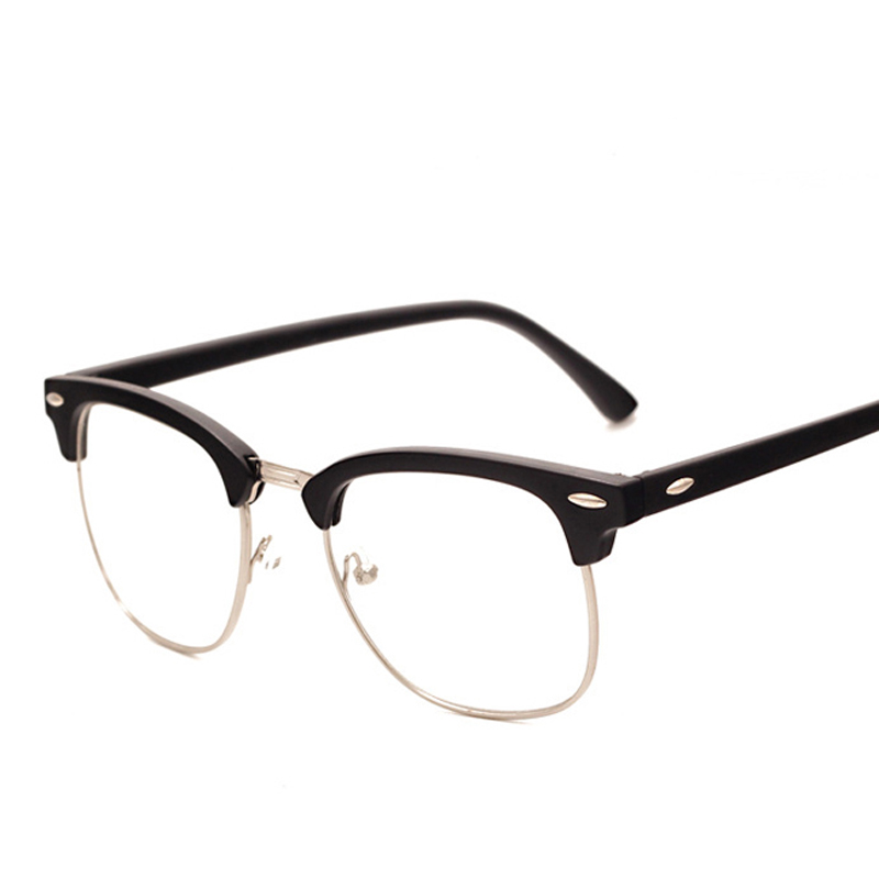 Fashion brand men frame fashion glasses with clear lenses man johnny depp nerd optical women computer