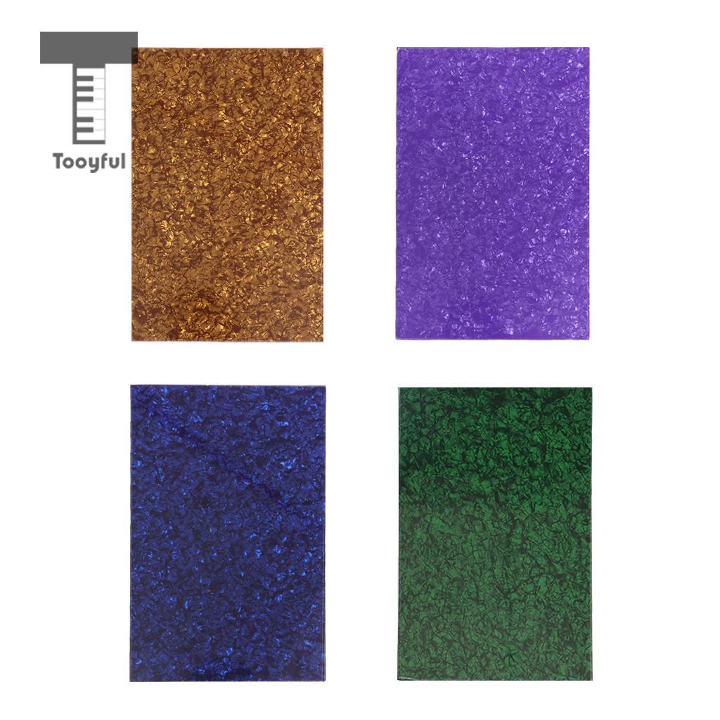 Tooyful 4 Colors Electric Guitar Pickguard Scratch Guitar Material Blank Plate