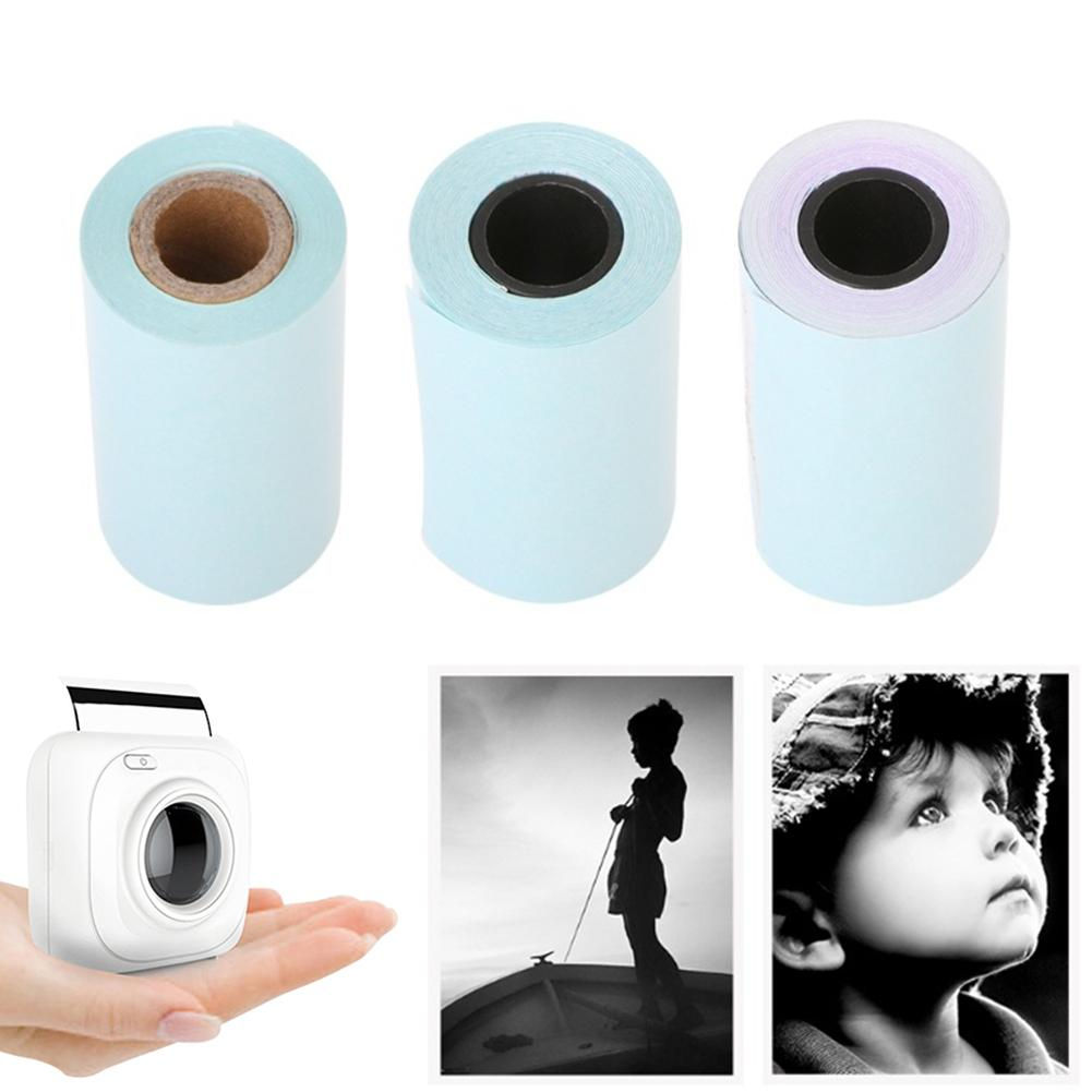 3 Rolls 57x30mm Self-adhesive Thermal Sticker Printing Paper For Paperang P1 Mini Photo Printer Accessories