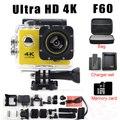 Câmera HD F60 Wifi Como Eken H9 Ultra 4 K Ir pro câmera 2.0 LTPS mini LED mergulho 1080 P HD DV cam recorder marinha à prova d' água
