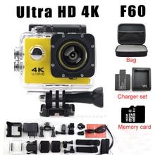 HD Camera F60 Wifi Like Eken H9 Ultra 4K Go pro camera 2.0 LTPS LED mini cam recorder marine diving 1080P HD DV waterproof