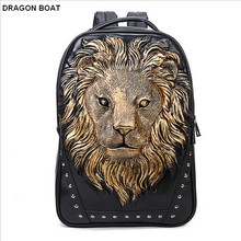 New Year 2018  Promo Hi-Q Famous Brand Design men Women Backpacks fashion Travel Animal Leather Backpack School Bag Vintage leather laptop backpack.