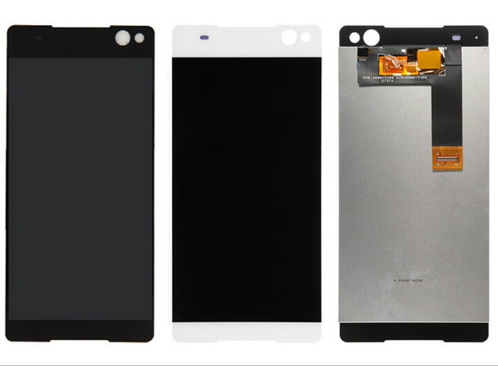 2 pcs white/black Touch Screen Digitizer with LCD Display Assembly For Sony Xperia C5 Ultra E5506 E5533 E5563 E5553 Freeshipping