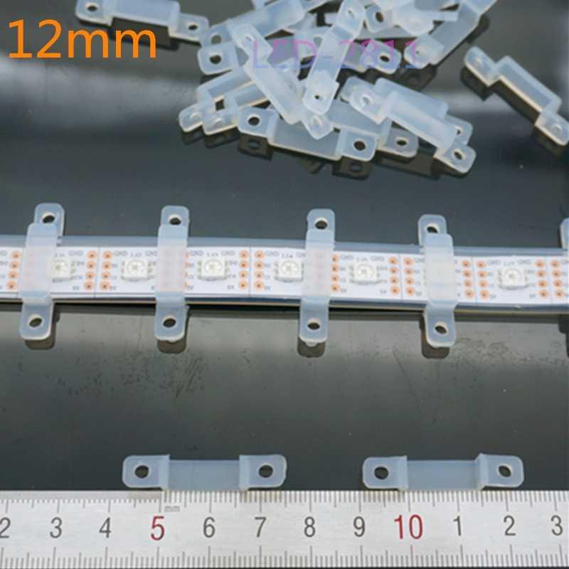 50 sztuk, 8mm, 10mm, 12mm, miękkie światło zacisk zaciski mocujące żel krzemionkowy fixer silikonowe LED spinki do włosów dla 3528 5050 2812b rgb taśmy LED rgbw