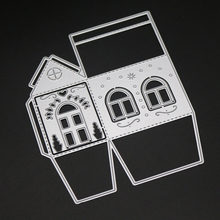 3D small house Metal Cutting Dies Stencils for DIY Scrapbooking/photo album Decorative Embossing Paper Cards