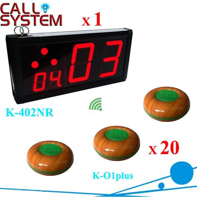 Ycall Ресторан оборудование на продажу Официант пейджер сервер системы 20 колокола с 1 экран счетчика