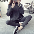 Women Sweater 2016 Winter New Fashion Knitted Pullovers High Quality Solid Sweaters Warm Long Sleeves Pull Femme SZQ023
