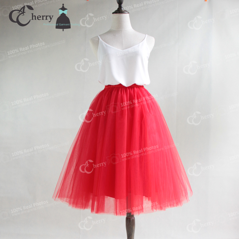 5 Layers Adult Tulle Skirt Tutu Women Midi Pleated Skirts Tea Length Bridesmaid Faldas Tul Plus Size Saias Jupe In From Womens Clothing