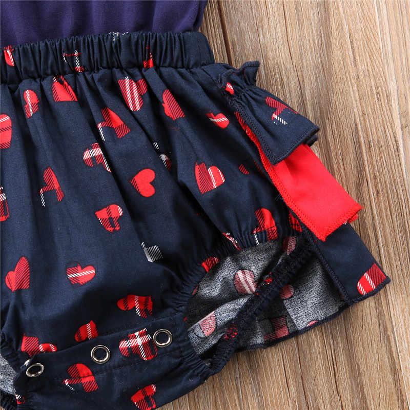 Летняя одежда с цветочным рисунком для новорожденных; детская одежда для девочки принт красное сердце хлопковые комбинезоны с короткими Качели с длинными рукавами модные боди