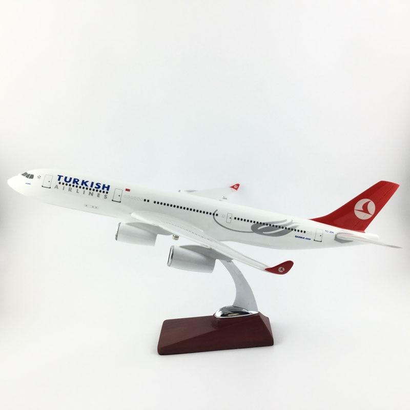45 47 см Турецкие авиалинии A340 1:150 сплав металла самолет коллекция моделей игрушечные самолеты подарки бесплатно Экспресс EMS/DHL/доставка