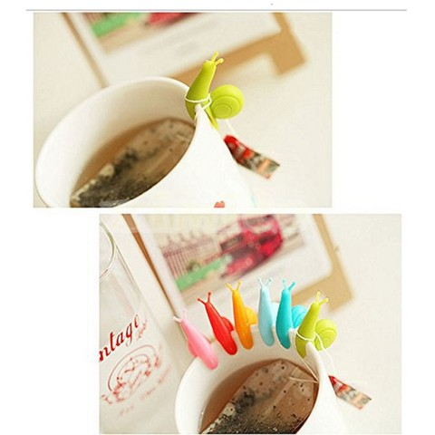 6pcs/bag Lovely Tea Bag Clip Candy Colors Snail Shape Wine Glass Cup Clip Label for Hanging Tea Bag New Arrivals Tea Tools Islamabad