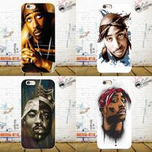 Bixedx 2pac Tupac Shakur Ultra Thin Cartoon Pattern For Xiaomi Redmi 5 4A 3 3S Pro Mi4 Mi4i Mi5 Mi5S Mi Max Mix 2 Note 3 4 Plus(China)