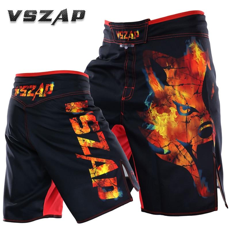 VSZAP Marca MMA Muay Thai calções de boxe mma taekwondo Genuíno combate aptidão abrangente respirável calções desportivos masculinos