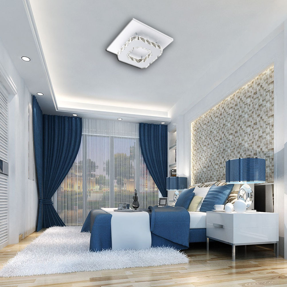 HTB16HtjdlTH8KJjy0Fiq6ARsXXaq Crystal Chandelier | Crystal Light | Ceiling Lights Indoor Crystal Lighting LED Luminaria Abajur Modern LED Ceiling Lamp For Living Dining Bed Room Home Decoration Power 12W
