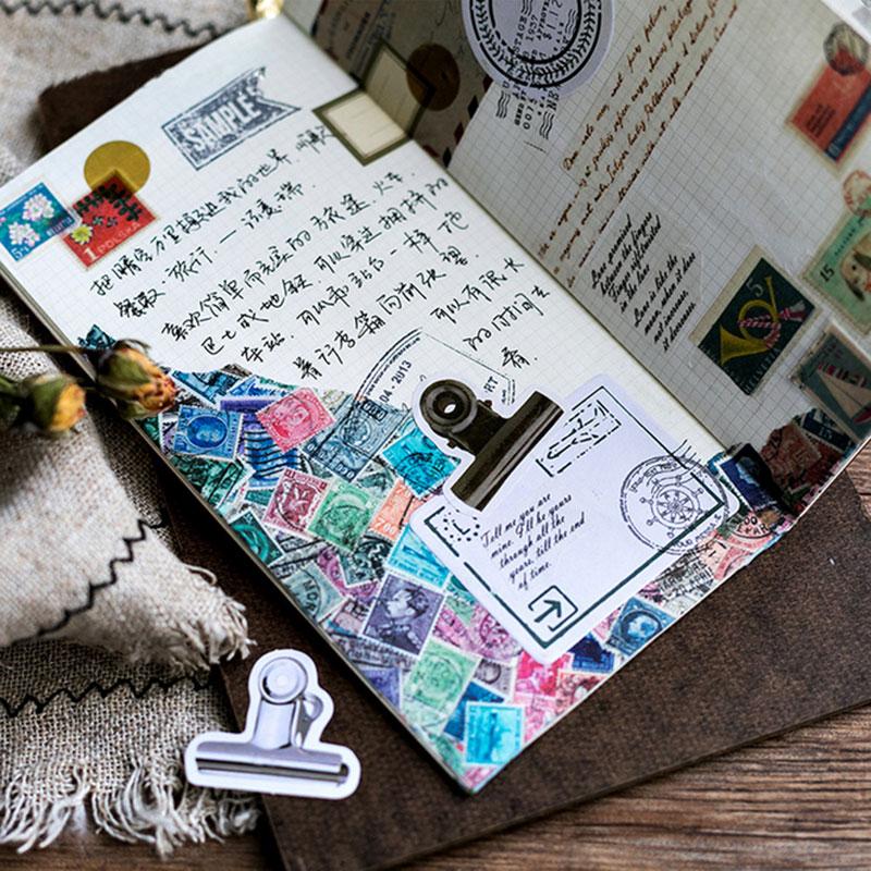 Купить с кэшбэком 45 Pcs/box Creative clamp mini Paper Decoration DIY Scrapbook Notebook Album seal Sticker Stationery Kawaii Stickers