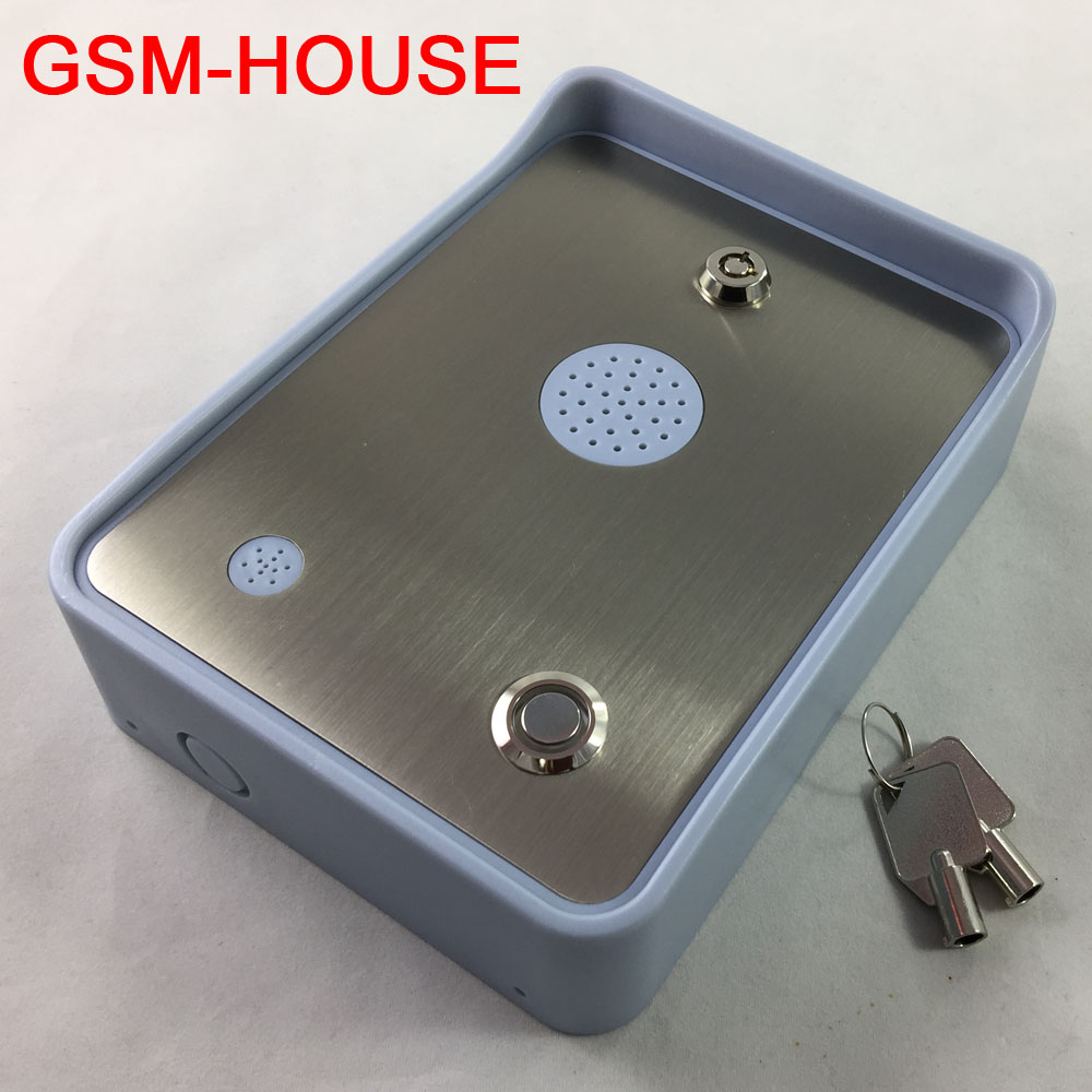 Free shipping GSM Audio Intercom for single House door and gate opener access controller DC12V power