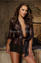 Plus size women black lace nightgown womens sleepshirts hot night pajamas sexy babydoll lingerie