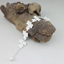 999 Sterling Silver Bracelet Flower Womens Hand Chain Link Ethnic Handmade Miao Bracelets Bangles Vintage