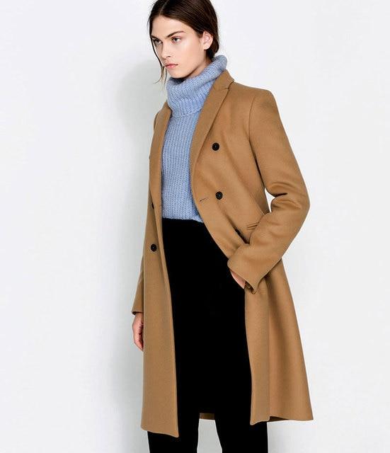 2015 мода ZA новый женский пиджак воротник с бойфрендом плащ с 2 кнопки прямого покроя сорванец пальто