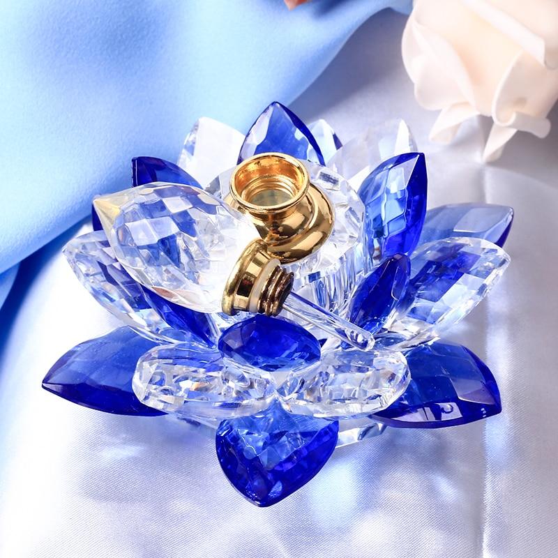 Azul K9 Adornos de cristal para el coche Botella de perfume de - Decoración del hogar