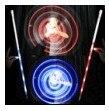 Canne de danse Star Lite (pliante Deluxe) lumière bleue/lumière rouge/tours de magie/magie de scène/accessoires de magie