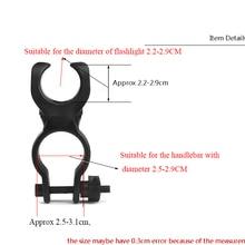 Высокое качество 360 Поворотный Велосипедный Спорт велосипед светодиодный фонарик кронштейн держатель факел Клип зажим Универсальный(1 шт