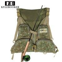 KyleBooker New Fly Fishing Vest Fishing Pack Outdoor Handy Adjustable Fly Vest