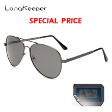 LongKeeper Polarized Sunglasses Men Pilot Driving Sun glasses Women Brand Design Metal frame Goggles Gafas de sol HH01