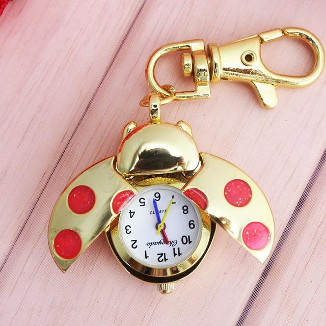 2018 cyd new gold flip children boys girls fashion pocket watch women small port