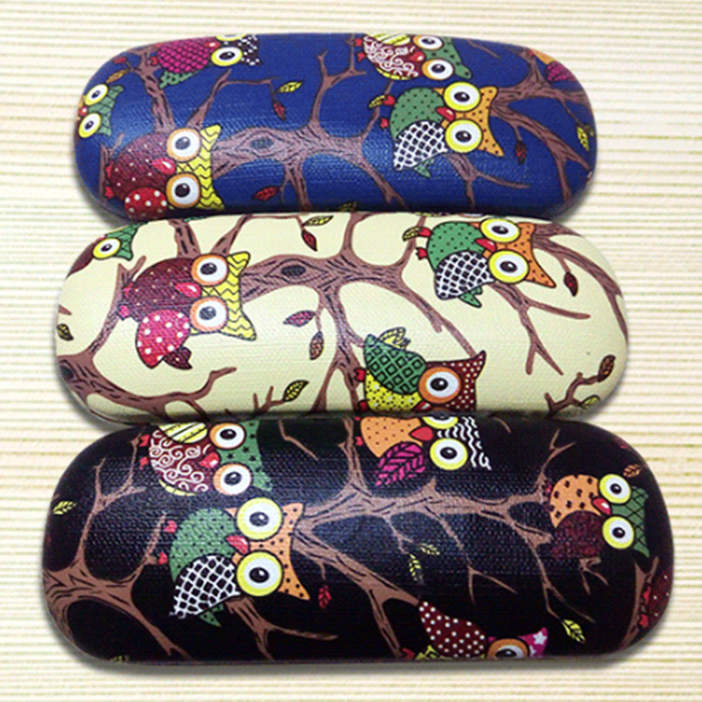 Box-Case Protector-Box Glasses Folding Portable Eyewear Owl Animal