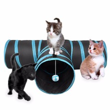 3 Way Cat Tunnel  with Ball