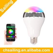 Wireless Bluetooth Speaker Color Smart LED Blub Light 110V-240V E27 3W Lamp Audio for iPhone 5S 5C 5 iPad air BL05