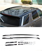 Car Styling!For Land Rover Discovery Sport 2015 2016 Set Black Metal Roof Rack Rails Bars Luggage
