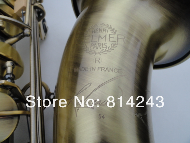 Selma STS R54 Bb Tenor B Flat Brass Saxophone Reference 54 Unique Antique Copper Sax Musical