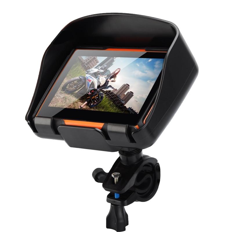 All Terrain 4 3 Inch Motorcycle GPS Navigation System Rage Waterproof 8GB Internal Memory Bluetooth