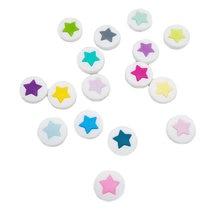 Chenkai 10 шт силиконовые бусины для прорезывания зубов звезда