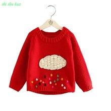 Одежда для девочек; сезон осень-зима; теплый вязаный свитер с вышитыми героями мультфильмов; детская Wear1-4; Качественная одежда для детей; Лидер продаж