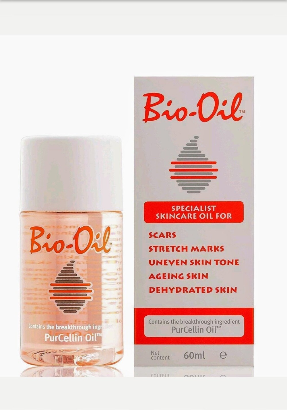 Bio Oil Purcellin Oil Skincare for Stretch Mark Scar Uneven Skin Tone - 60ml 60ml
