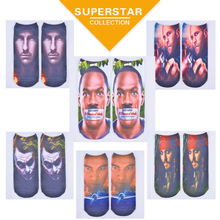 2015 new 3d printinghot stars printing fashion women funny socks wholesale chaussette femme meais calcetines hombre sokken