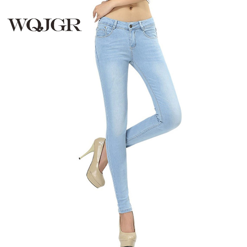 WQJGR Spring And Autumn Outfit Size Women Jeanss