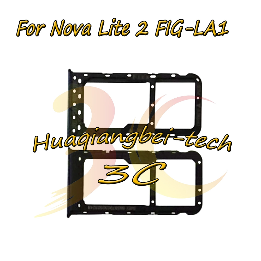 New For Huawei Nova Lite 2 FIG-LA1 ( not for Nova lite ) Sim Card Tray Micro SD Card Holder Slot Adapter Parts Sim Card Adapter