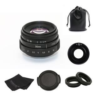 Image 2 - new arrive FUJIAN 35mm f1.6 C mount camera CCTV Lens II for M4/3 / MFT Mount Camera & Adapter black kit free shipping