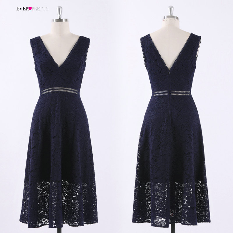 4c72bc1058 Lace Cocktail Dresses Ever Pretty AS05919 Elegant V neck High Waist Tea  Length Fashionable Affordable Party Dresses for Women -in Cocktail Dresses  from ...