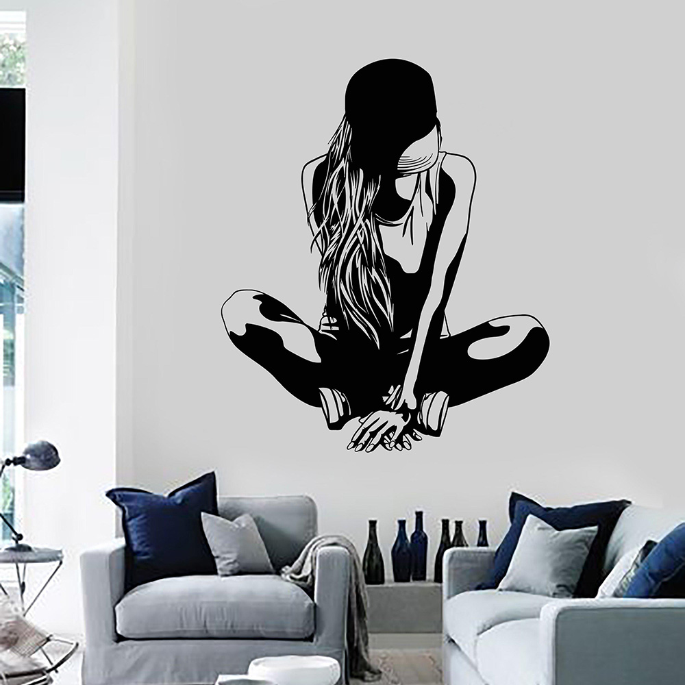 Sexy Sports Teen Gir Vinyl Wall Decal Home Decor Bedroom ...